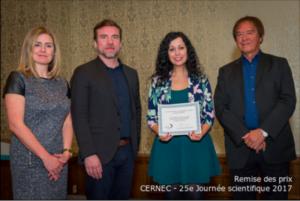 Bianca receiving Prix ANQP